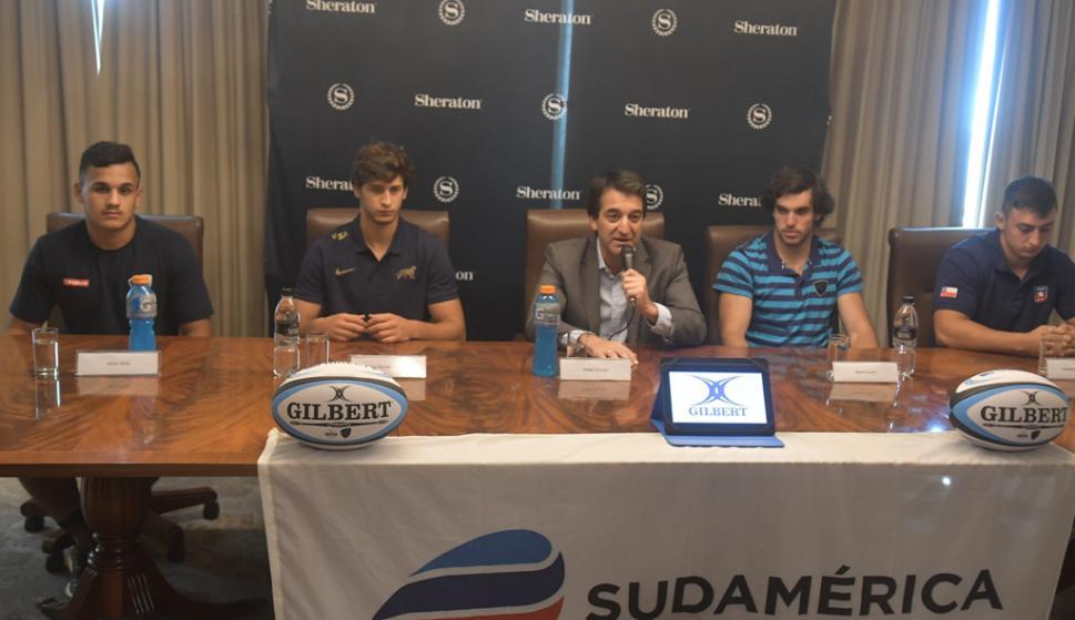 Presentación del Sudamericano M20 de rugby en el Hotel Sheraton. Foto: Francisco Flores.