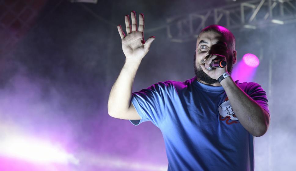 Santi Mostaffa en Montevideo Hip Hop. Foto: Nicolás Pereyra
