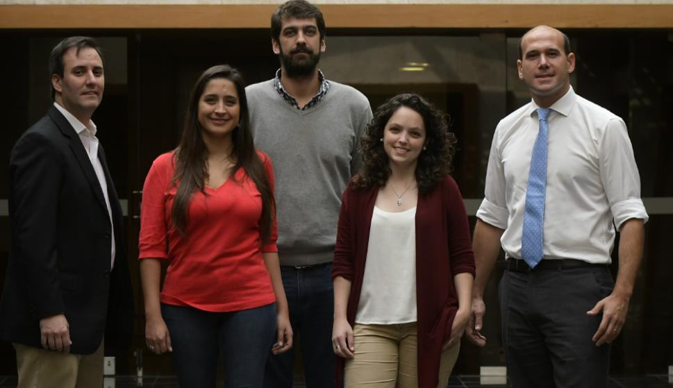 Conrado Rodríguez, Manuela Mutti, Gonzalo Martínez, Melisa Freiría y Martín Lema. Foto: L. Mainé