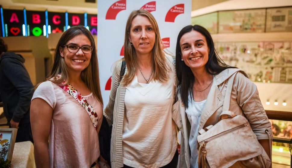 Daniela Rodríguez, Adriana Bremermann, Patricia Barreiro.