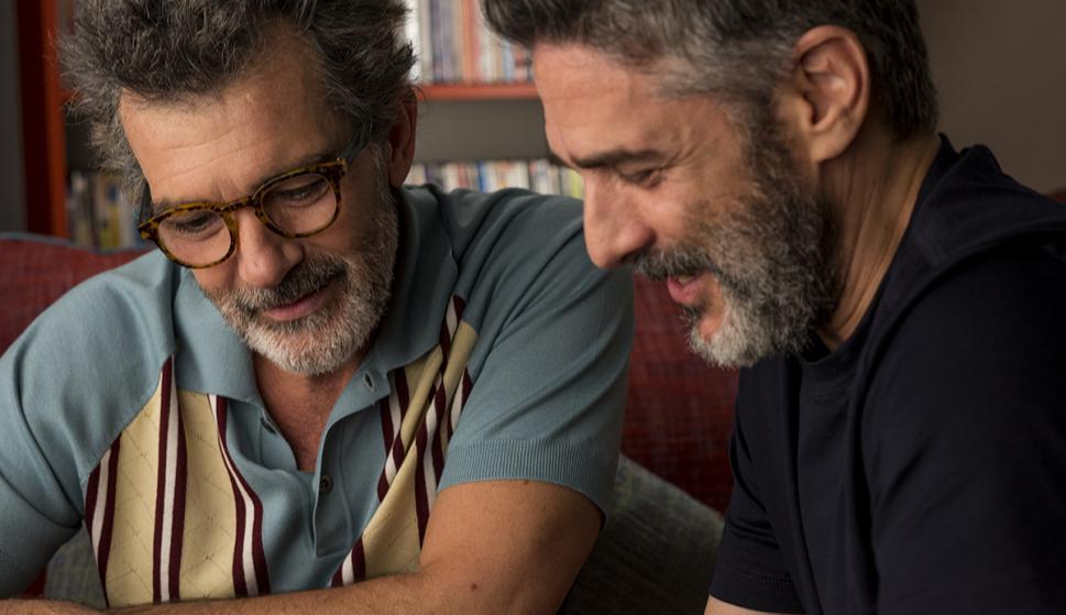 Antonio Banderas y Leonardo Sbaraglia en 'Dolor y Gloria'. Crédito: ElDeseo.