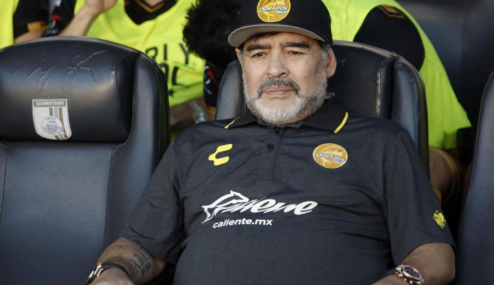 Diego Armando Maradona al frente de Dorados. Foto: EFE
