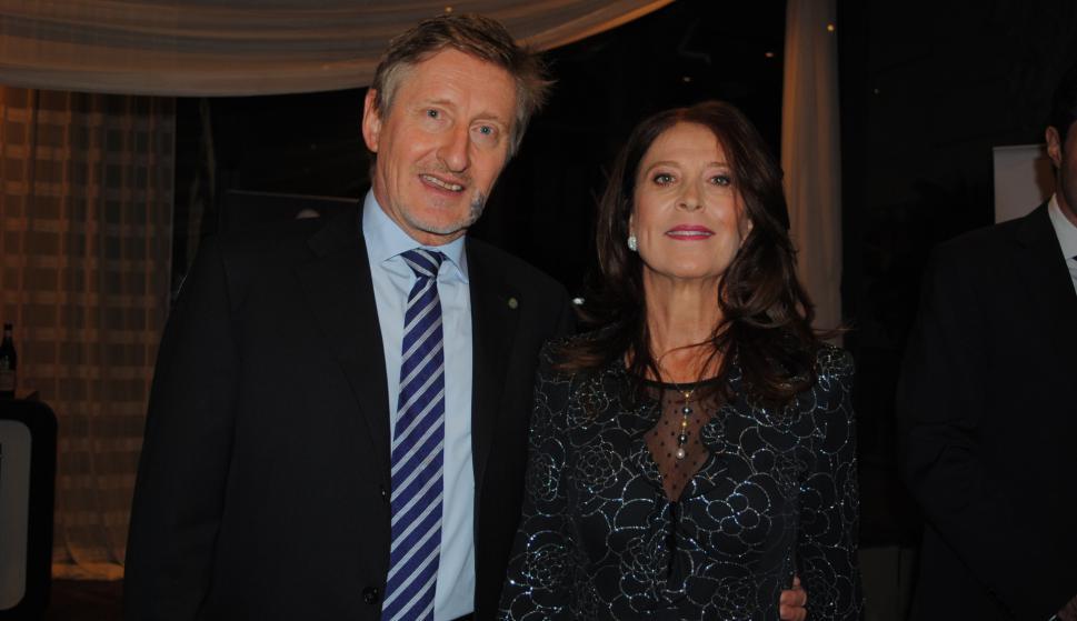 Embajador de Italia Gianni Piccato, Paola Piccato.