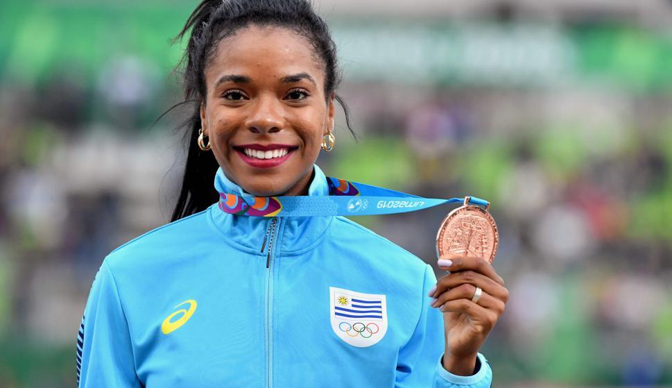 Déborah Rodríguez, medalla de bronce en los Panamericanos de Lima. Foto: AFP
