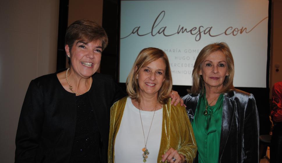 María José  Alonso, Irma y Magdalena Scheck.