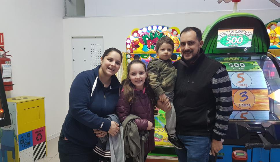 Victoria Barreiro, María José Techera, Daniel y Lucio Lemes.