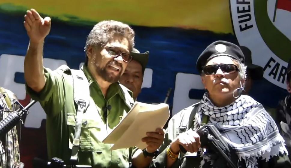 Disidentes de las FARC liderados por Iván Márquez. Foto: AFP