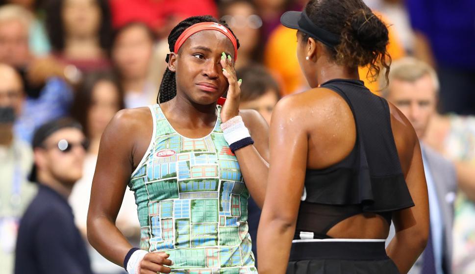 Naomi Osaka tuvo un admirable gesto con Coco Gauff y fue aplaudida en el US Open