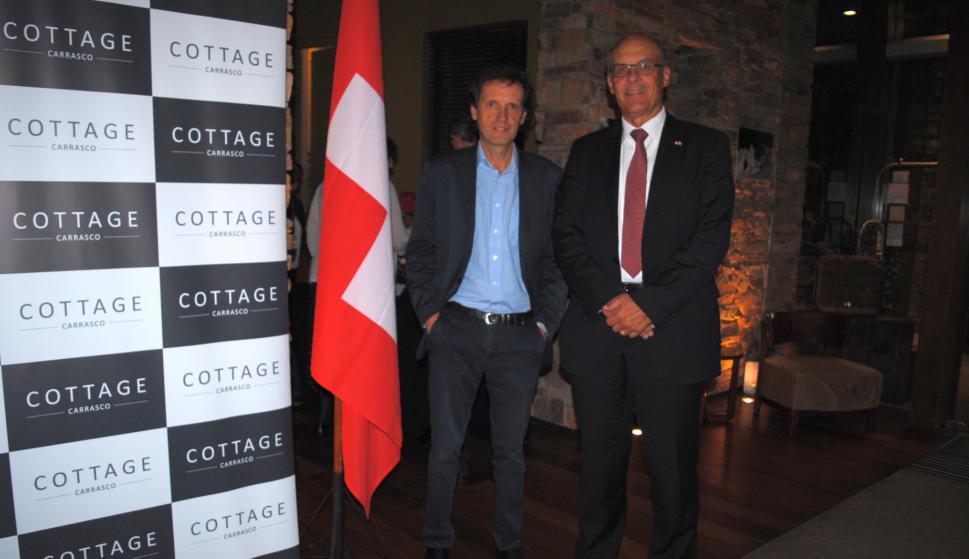 Sergio Goloubintseff, Embajador de Suiza Martin Strub.