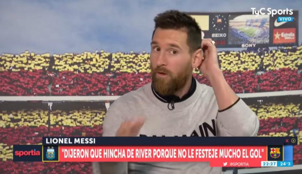 Lionel Messi desmintió que fuera hincha de River o de Independiente