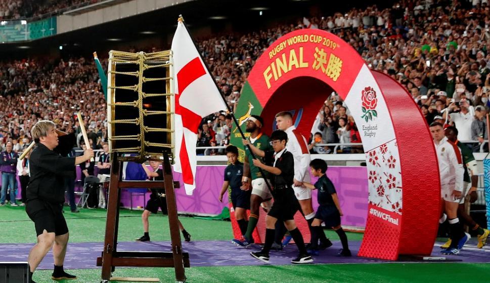 La gran final del Mundial de Japón 2019 entre Sudáfrica e Inglaterra. Foto: AFP.