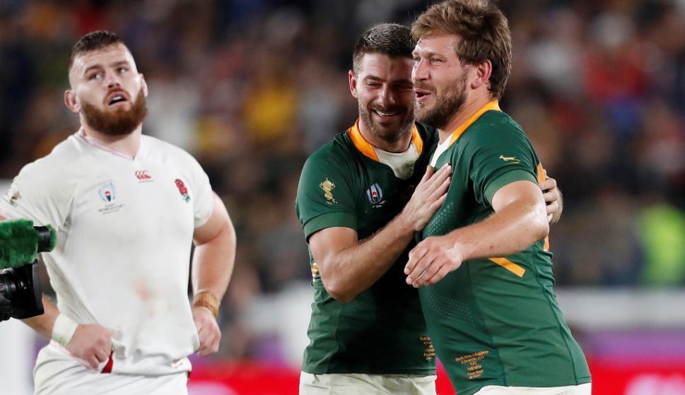 Sudáfrica le ganó a Inglaterra en Yokohama y se consagró campeón del mundo. Foto: AFP.