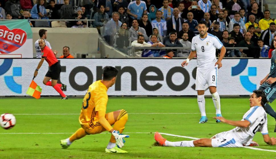 Gol de Uruguay a Argentina