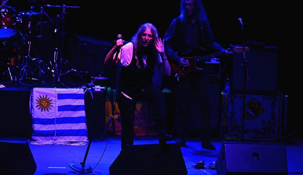 Patti Smith en el Teatro de Verano. Foto: Fernando Ponzzetto