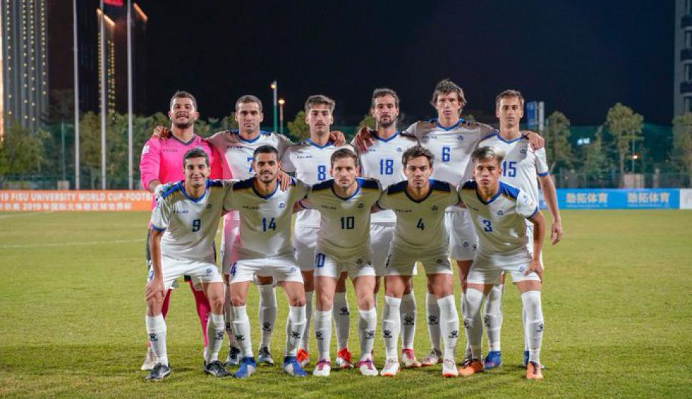 La selección uruguaya de fútbol universitario. Foto: FISU.