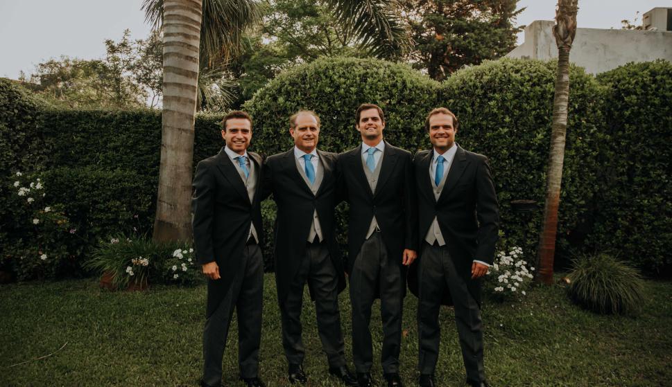 Eugenio, Pedro, Felipe y Pedro Regules.