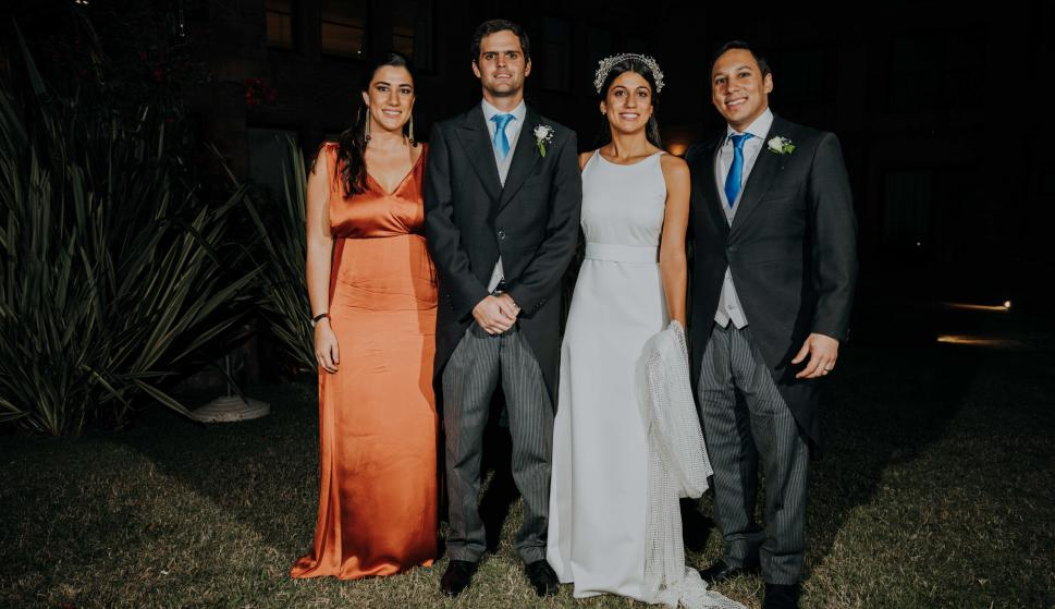 Martina Machado, los novios, Majed Abu.