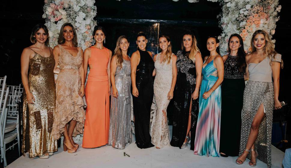 Esposas de los jugadores de la Selección Uruguaya.