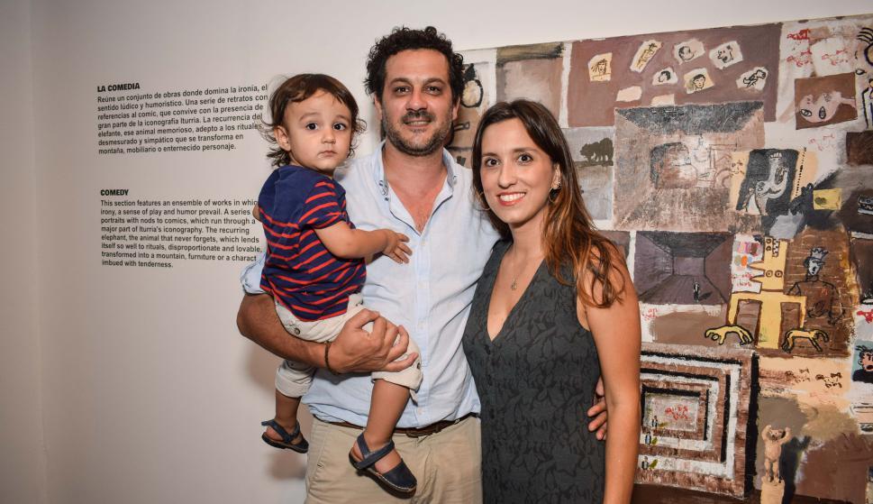Valentín y Juan Risso, Catalina Iturria.