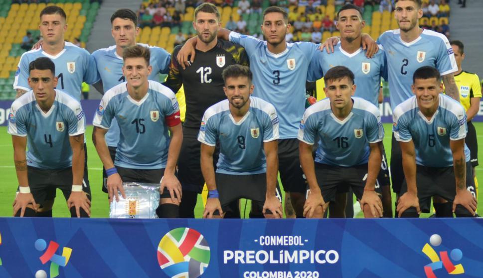 El equipo de Uruguay que comenzó jugando el Preolímpico de Colombia. Foto: AUF.