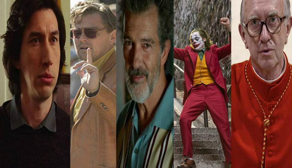 Adam Driver, Leonardo DiCaprio, Antonio Banderas, Joaquin Phoenix y Jonathan Pryce son los nominados a mejor actor. Foto: Difusión