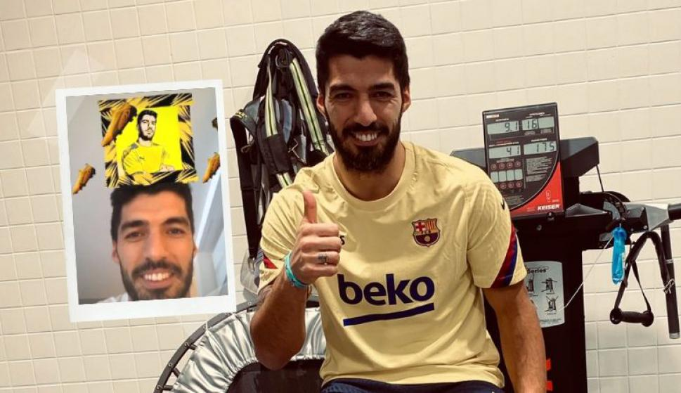 """""""¡No, mirá quién me salió!"""", Luis Suárez tampoco se resiste a este juego viral. Foto: @LuisSuarez9"""