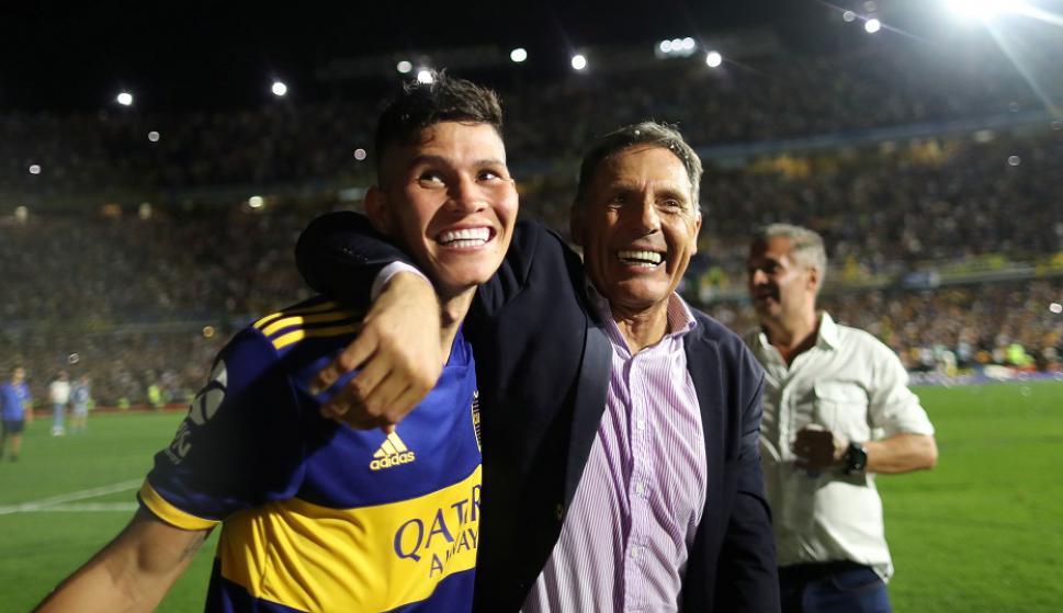 Jorman Campuzano y Miguel Ángel Russo, campeones en Boca Juniors