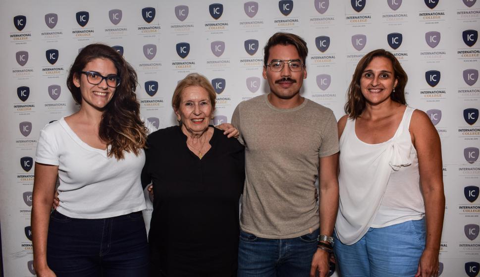 Eva Frade, Mariana Bachner, Pedro Márquez, Elena Quirici.