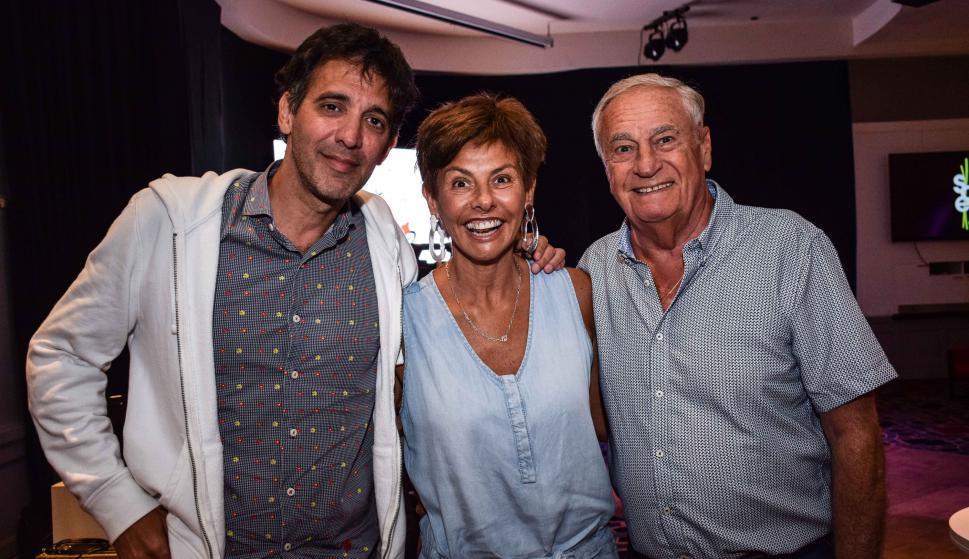 Walter Leiva, Stella Cuevas, Enrique Mansilla.