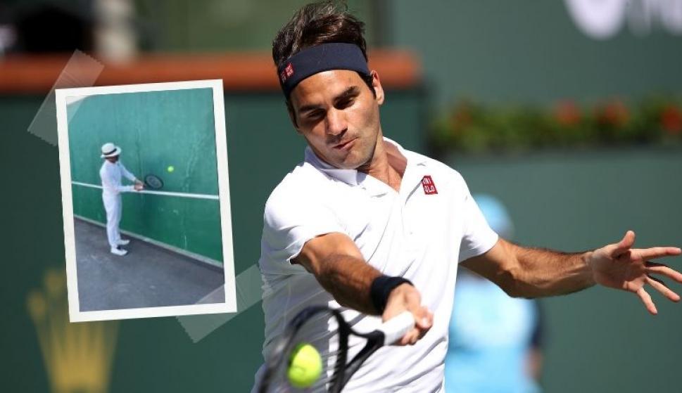 Tenis en casa: el desafío de Federer que los fanáticos ya intentan. Fotos: @rogerfederer y Archivo El País