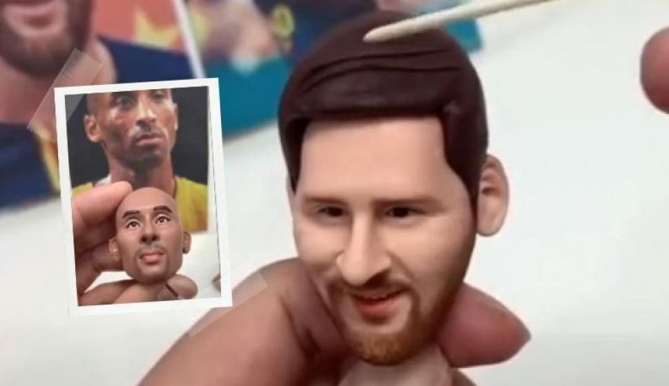 Lo volvió a hacer: el chino del muñeco de Messi ahora hizo a Kobe Bryant