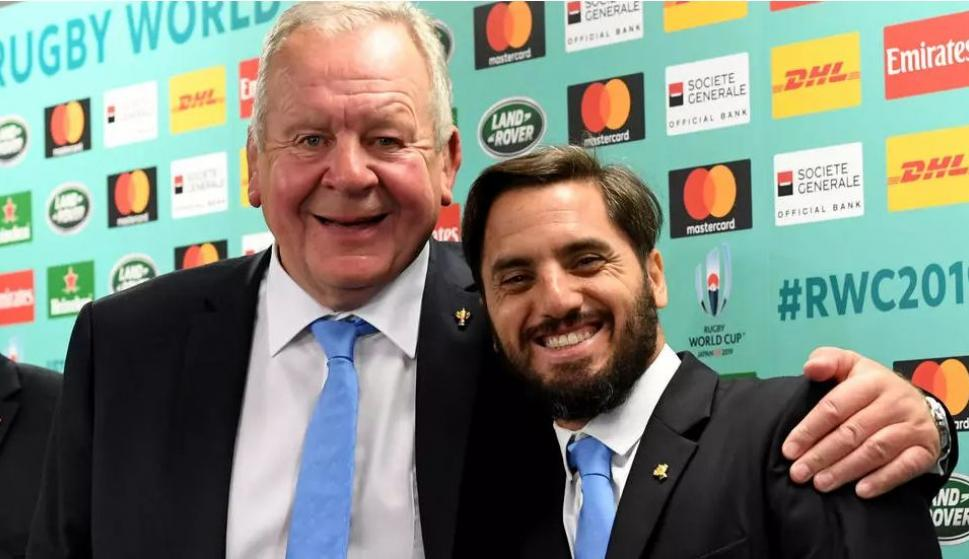 Bill Beaumont y Agustín Pichot, los candidatos a la presidencia de World Rugby.