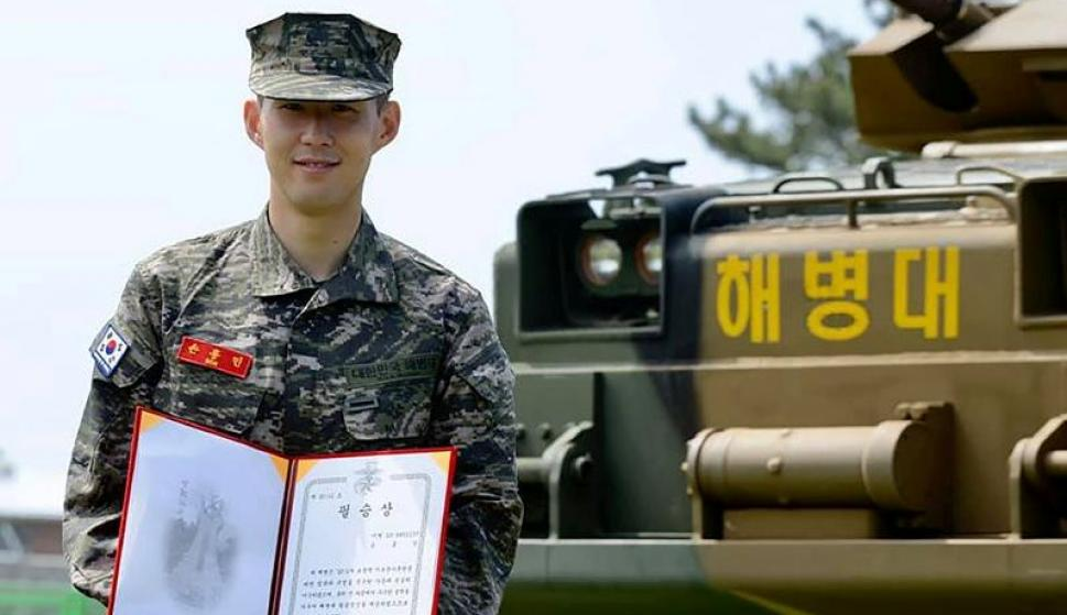 Son Heung-min completó el servicio militar