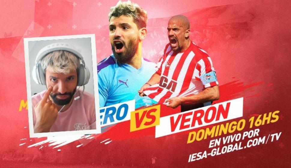 """El Kun Agüero y la brujita Verón jugará la Copa """"Rosa Melano"""". Fotos: Sebas Fenández e IESA Argentina"""
