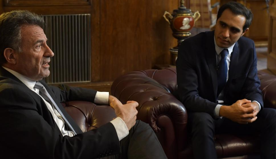 José Luis Satdjian y Daniel Salinas. Foto: Leonardo Mainé.