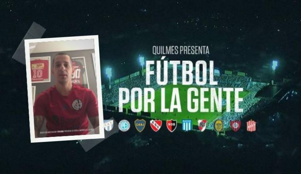 #FútbolPorLaGente: la campaña de los clubes argentinos contra el Coronavirus. Fotos: Quilmes (Twitter)