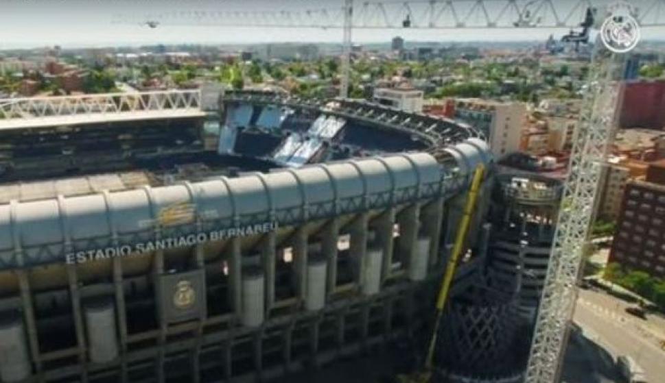 Así avanza la obra en el Santiago Bernabéu