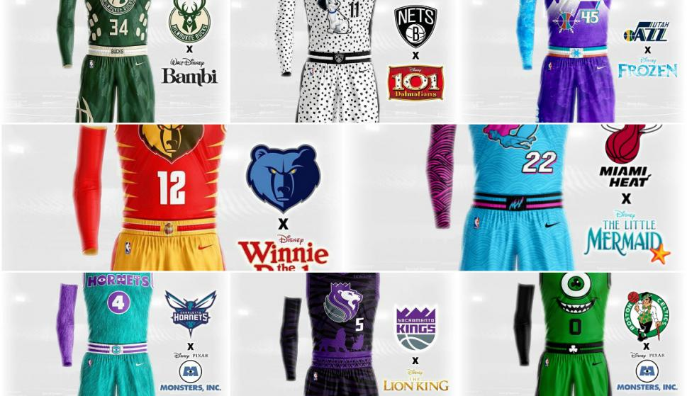Camisetas NBA de Disney