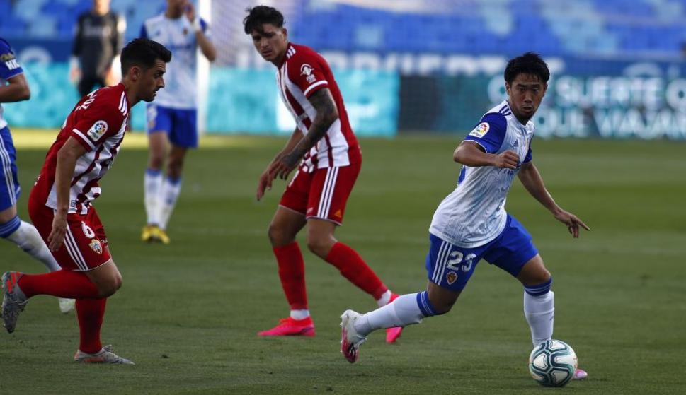 Almería le ganó como visitante al Zaragoza por 2 a 0 con Darwin Núñez titular. Foto: Marca.