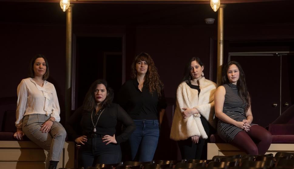 Josefina, Florencia, Vika, Leonor y Vanessa, dramaturgas