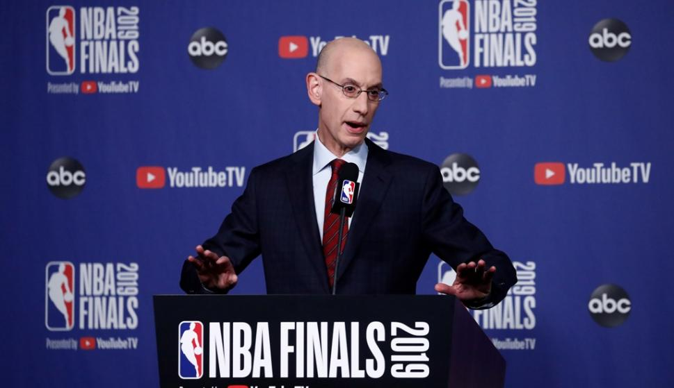 Adam Silver, comisionado de la NBA. Foto: EFE.