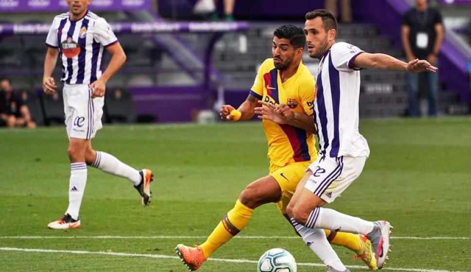 Luis Suárez en Barcelona vs. Valladolid