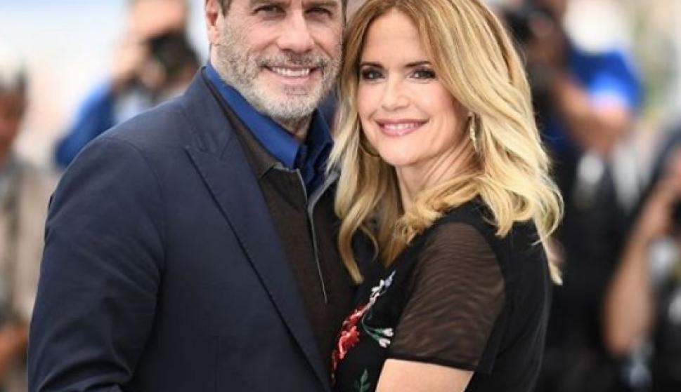 Kelly Preston  y su marido, John Travolta. Foto: @therealkellypreston