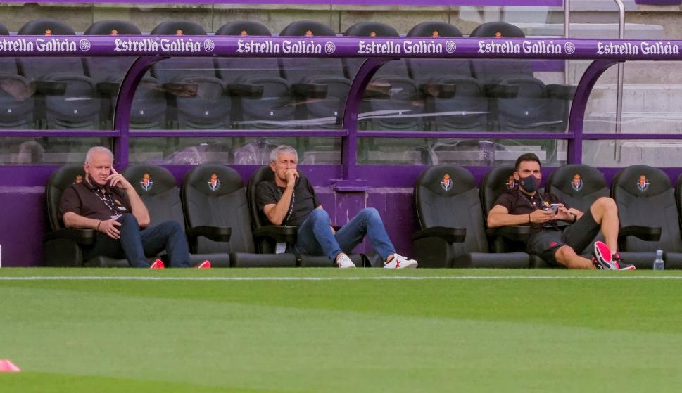 Quique Setién, entrenador del Barcelona. Foto: EFE.
