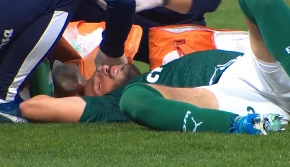 La lesión de Matías Viña en Palmeiras-Corinthians