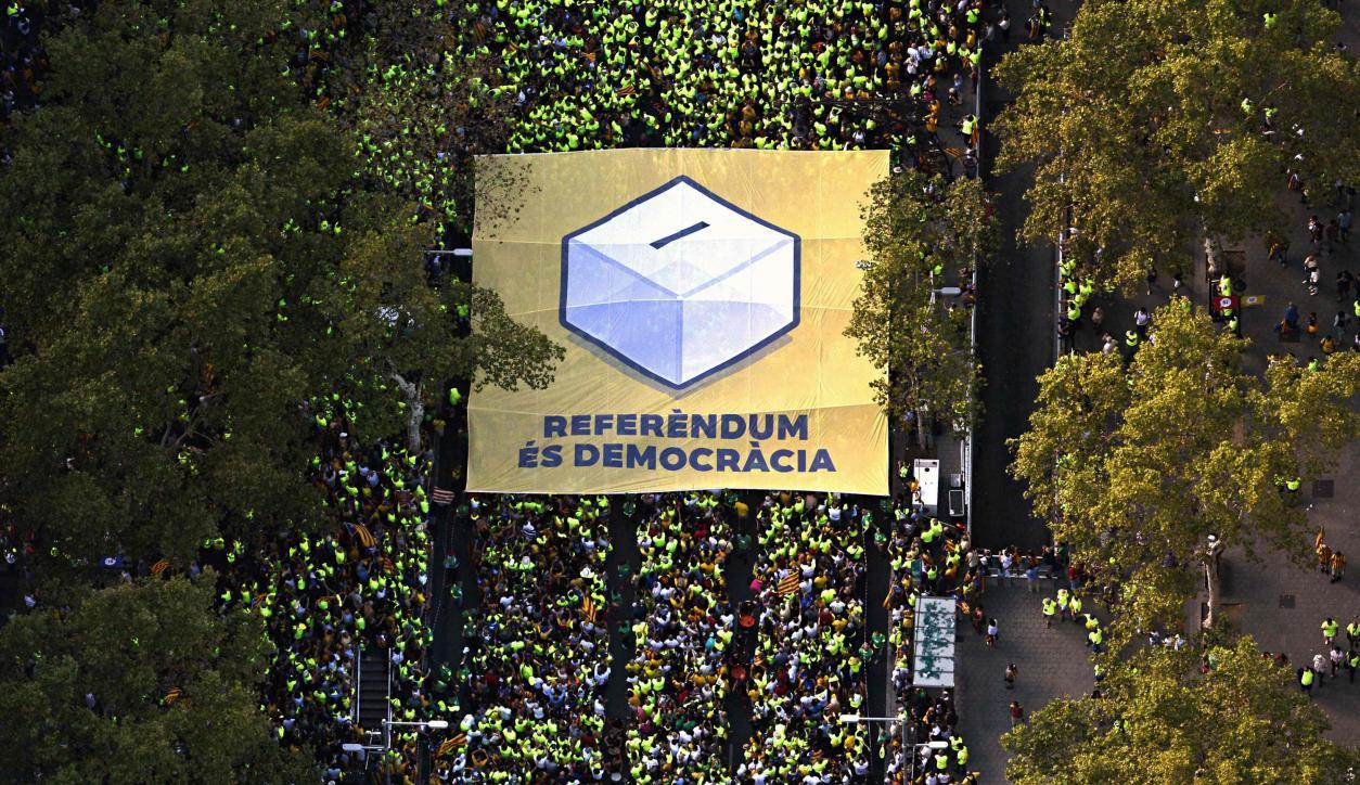 Más de un millón de personas exigieron ayer el desarrollo de un referéndum. Foto: AFP.