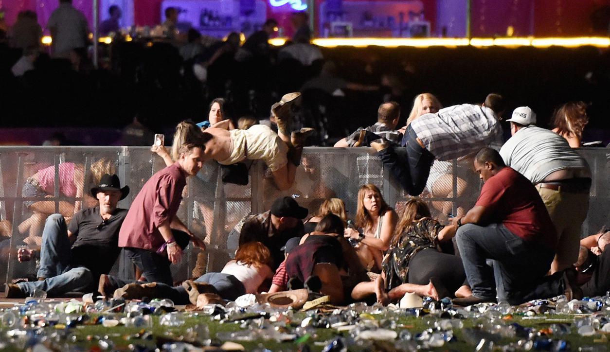 Tiroteo en Las Vegas. Foto: AFP