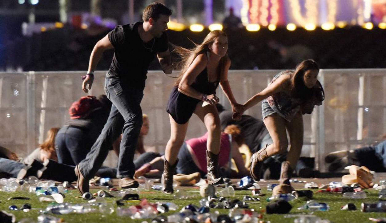 Tiroteo en festival de música country en Las Vegas. Foto: Reuters.