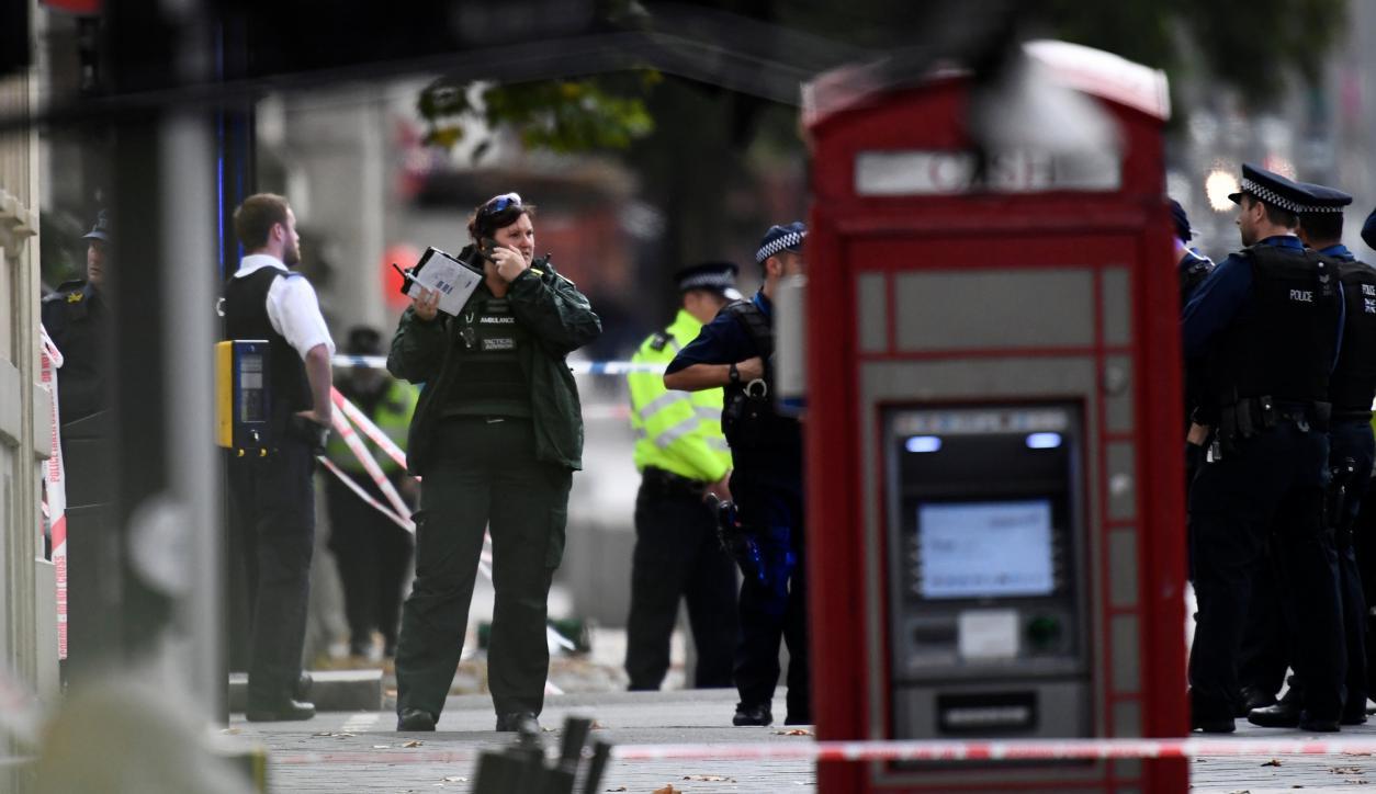 Un hombre atropelló a peatones en el centro de Londres. Foto: Reuters
