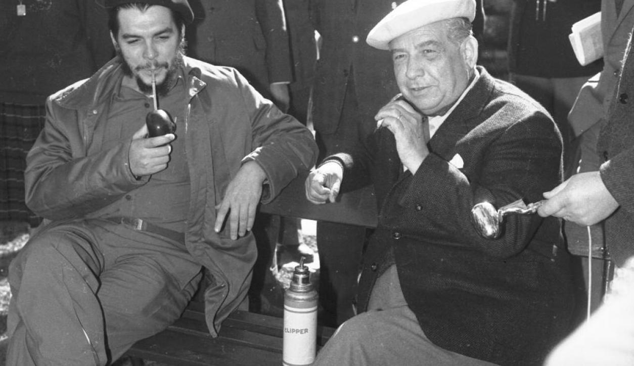 Enresto Che Guevara y Eduardo Víctor Haedo Foto: Archivo El País